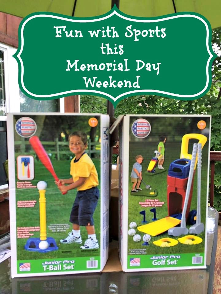 Fun with American Plastic Toys Sports this Memorial Day Weekend #Ad