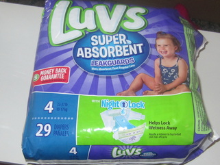 TheClueIsInTheBlue With Luvs Super Absorbent Leakguards Diapers